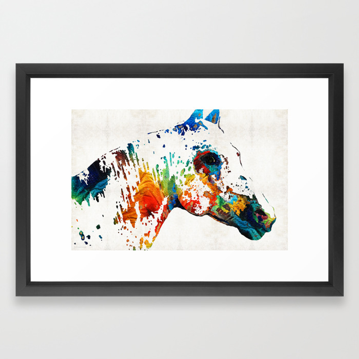 Colorful Horse Art Wild Paint By Sharon Cummings Framed Art Print By Sharoncummings Society6