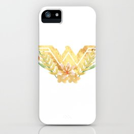 wonder.woman floral iPhone Case