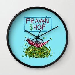 Pawn Shop Cash Prawn Wall Clock