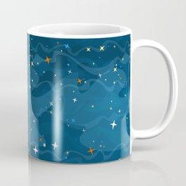 Nebula Waves and Stars Pattern Coffee Mug