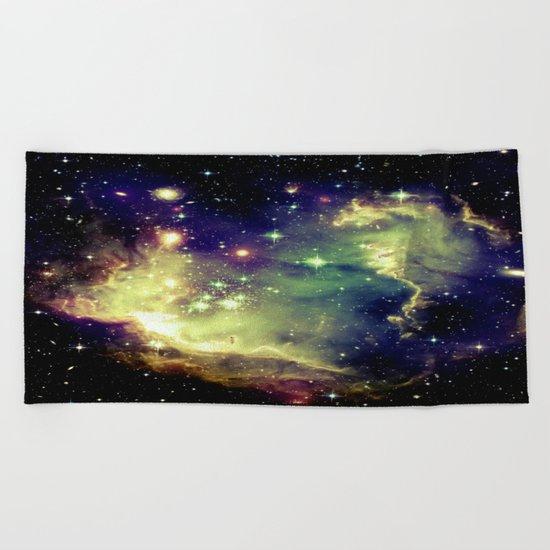 Nebula Galaxy Beach Towel