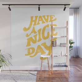 Have a nice day vintage peach Wall Mural
