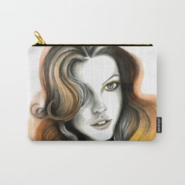 Yellow and Orange Flame Hair Carry-All Pouch