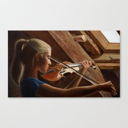 The sound of strings Canvas Print