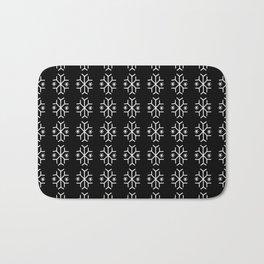 snowflake 11 For Christmas ! Black and white version. Bath Mat