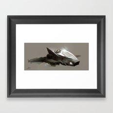 Shuttle concept.  Framed Art Print