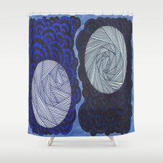 Molecular 2 Shower Curtain