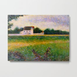Landscape of the Ile de France Post-Impressionism landscape Oil Painting Countryside Cottages Farm Metal Print