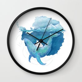 Southern Ocean Whale Sanctuary Wall Clock