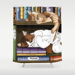 Hitting the Books Shower Curtain