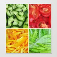 vegetable Canvas Prints featuring vegetable by tony tudor