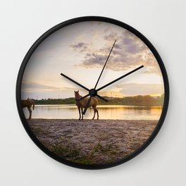 foal and his mother Wall Clock