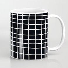 Handdawn Grid Black Mug