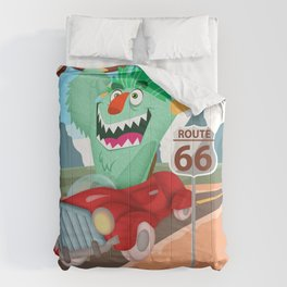 speeddemon on route 66 Comforters