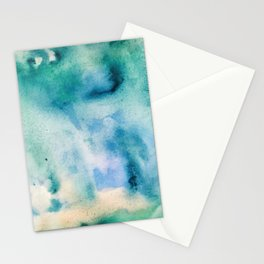 Watercolor abstract many color no.16 Stationery Cards