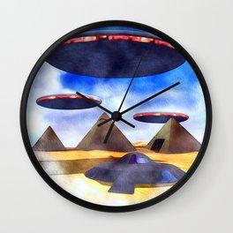 Ancient Aliens - UFO Pyramids Wall Clock