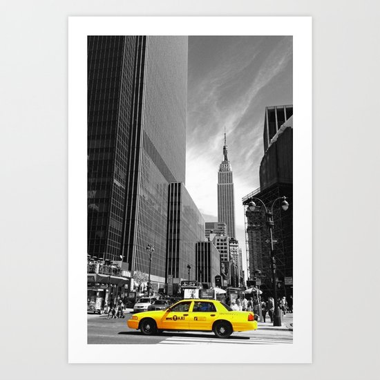 The yellow cab Art Print