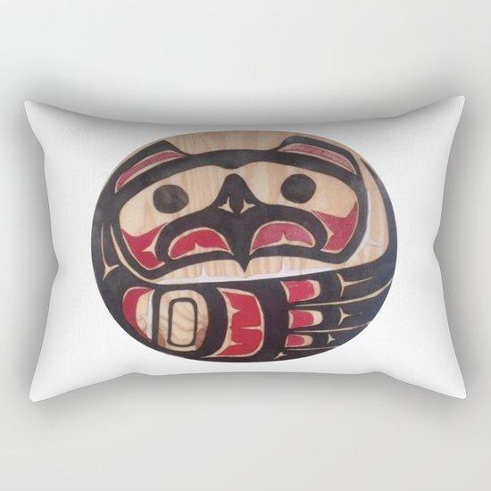 American Native Art Cut In Wood No. 5 Rectangular Pillow