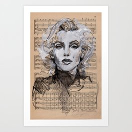 Monroe Music Sheet Art Print