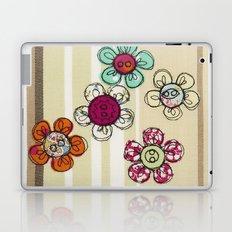 Embroidered Flower Illustration Laptop & iPad Skin