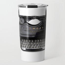 Typewriter (Black and White) Travel Mug