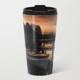 Golden Sunset over Loch Ard Travel Mug