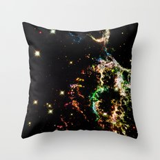 Galactic Electricity Colorful Throw Pillow