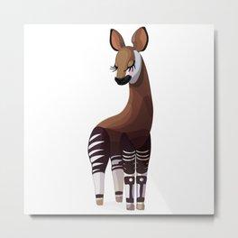 Lovely okapi. Vector graphic character Metal Print