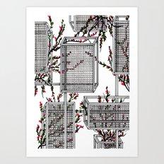 geo spring Art Print