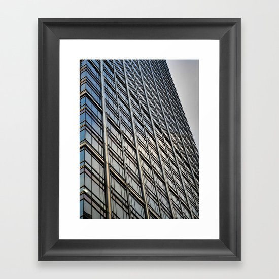 Skyscraper Abstract Framed Art Print