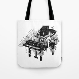 Piano, Melody of life Tote Bag