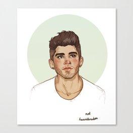 not heartbroken Canvas Print