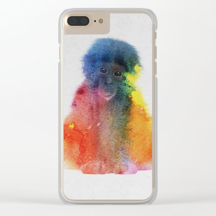 Monkey Clear iPhone Case