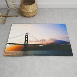 Golden Gate Bridge Sunrise, San Francisco Bay Rug