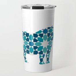 RHINO SILHOUETTE WITH PATTERN Travel Mug