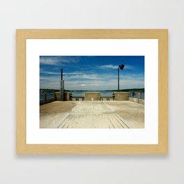 sunny day on the lake Framed Art Print