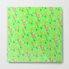 Sailor Jupiter Pattern / Sailor Moon Metal Print