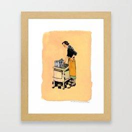 Saint Julia, Patroness of Kitchens Framed Art Print