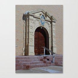 Queen of Peace Chapel Doors Canvas Print