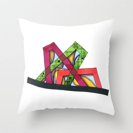 Synagogue Serendipity Geometric Architecture 76 Throw Pillow
