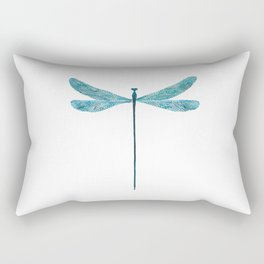 Dragonfly, watercolor Rectangular Pillow