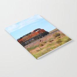 Orange BNSF Engines Notebook