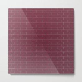 Plum Wall Metal Print