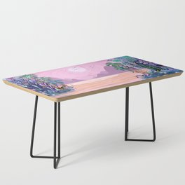 The Eyes of the Enchanted Misty Forest Coffee Table