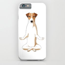 Meditating Jack Russell Terrier Dog iPhone Case