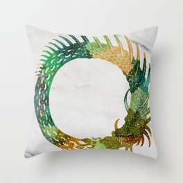 jörmungand Throw Pillow