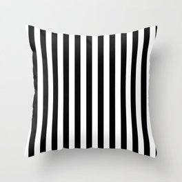 Black and white vertical stripes | Classic cabana Stripe Throw Pillow