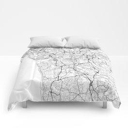 Porto Map White Comforters
