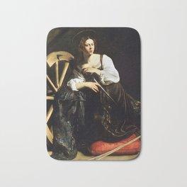 Saint Catherine of Alexandria by Caravaggio (c 1598) Bath Mat