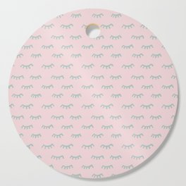 Small Pink Sleeping Eyes Of Wisdom - Pattern - Mix & Match With Simplicity Of Life Cutting Board